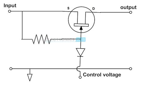 mosfet transistor switch circuit fet as a switch working of mosfet or jfet as a switch