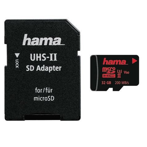 v micro sd 32 gb adapter hama microsdhc 32gb uhs speed class 3 uhs ii 200mb s