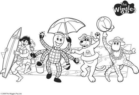 wiggles coloring pages wiggly friends the wiggles coloring pages pbs