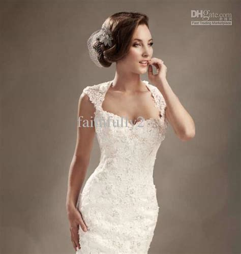 Wedding Hair For Cap Sleeve Dress by Winter Mermaid Wedding Dresses Cap Sleeves Lace Beaded