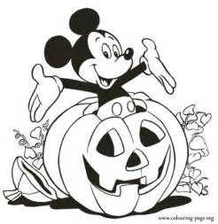 Curious George Bedding Mickey Mouse Mickey Inside A Halloween Pumpkin Coloring Page