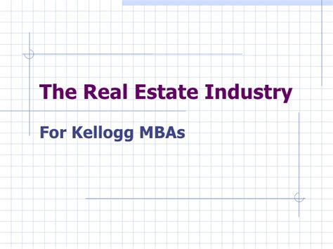 Mba Real Estate Management Uk by Ppt