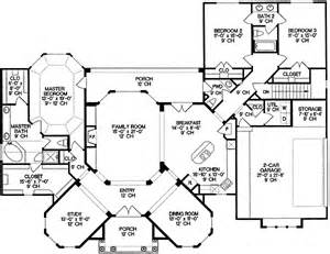 2 Story Villa Floor Plans by One Story Villa With Private Master Suite 4187db 1st