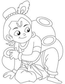 krishna coloring page 3 jpg 738 215 954 little krishna