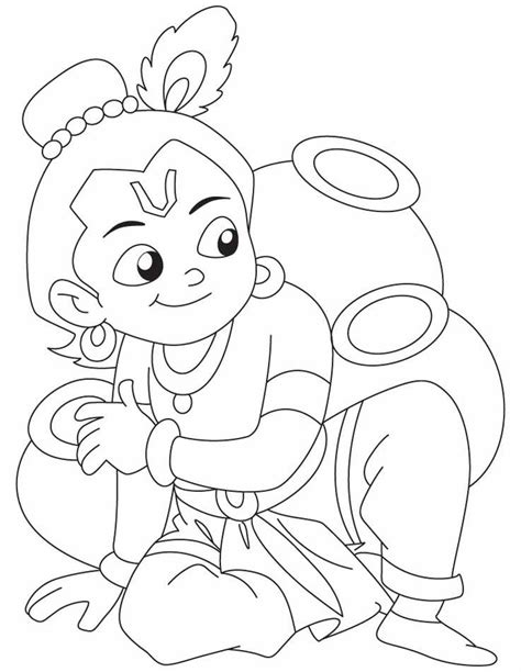 coloring pages of baby krishna krishna coloring page 3 jpg 738 215 954 little krishna