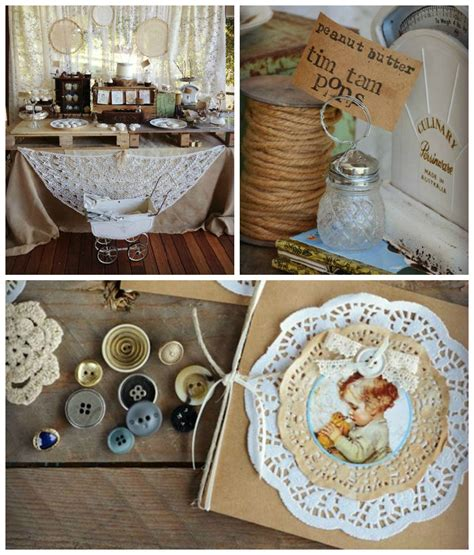 Rustic Baby Shower by Kara S Ideas Rustic Lace Baby Shower