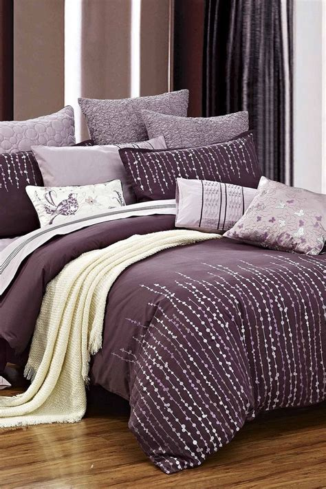 purple bedding and curtains grapevine duvet set purple on hautelook bedroom