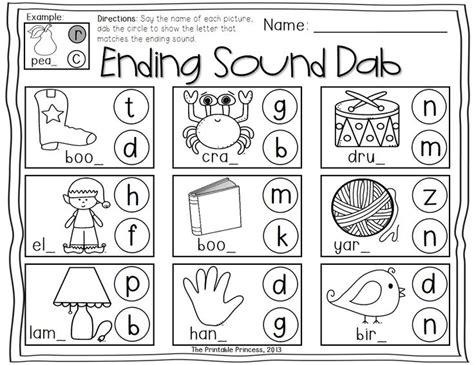 kindergarten activities ending sounds kindergarten literacy centers using bingo dabbers