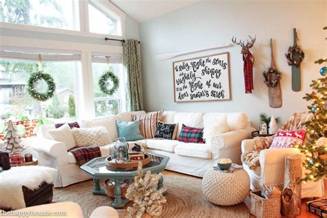 living room decorating ideas on house tour living a lake cottage our living dining room the happy housie