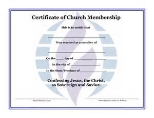 Church Membership Card Template by Best Photos Of Format Certificate Of Membership Sle