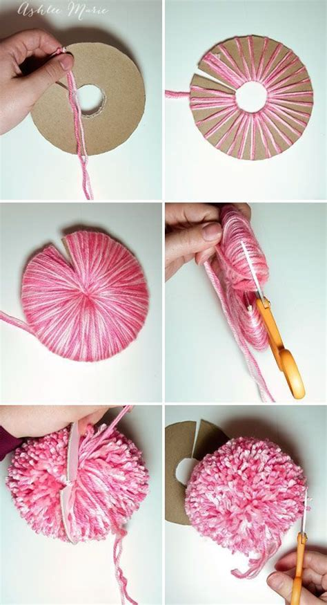How To Make Large Paper Pom Poms - how to make an large yarn pom pom yarns how