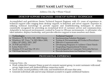 desktop support resume examples desktop support resume sample sales