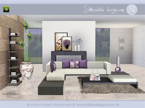 Sims 3 Living Room Sets Simcredible S Canelli
