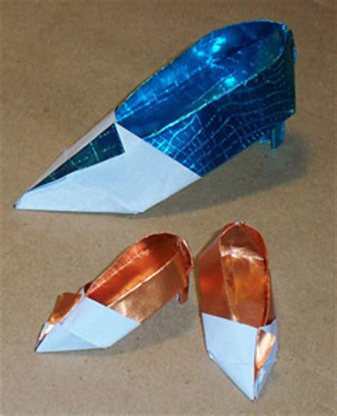 How To Make Origami High Heel Shoe - origami high heel shoe by katz