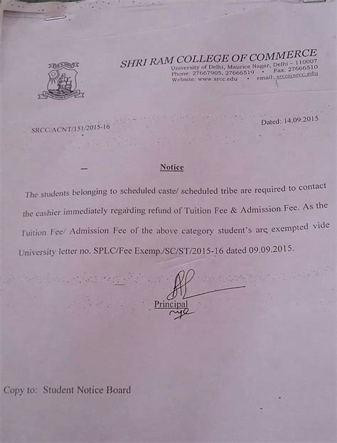 application letter for refund of fees school admission fee refund letter letter for