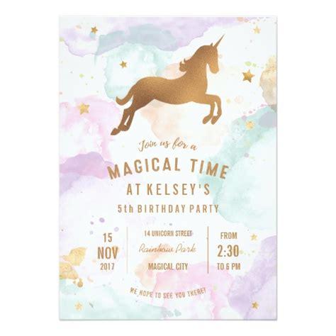 free printable unicorn invitation pastel unicorn birthday party invitation zazzle