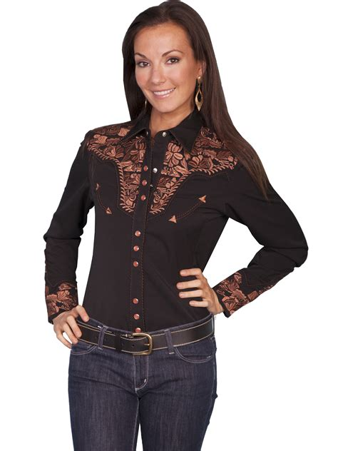 scully and scully ls scully 174 womens embroidered yoke ls western show shirt