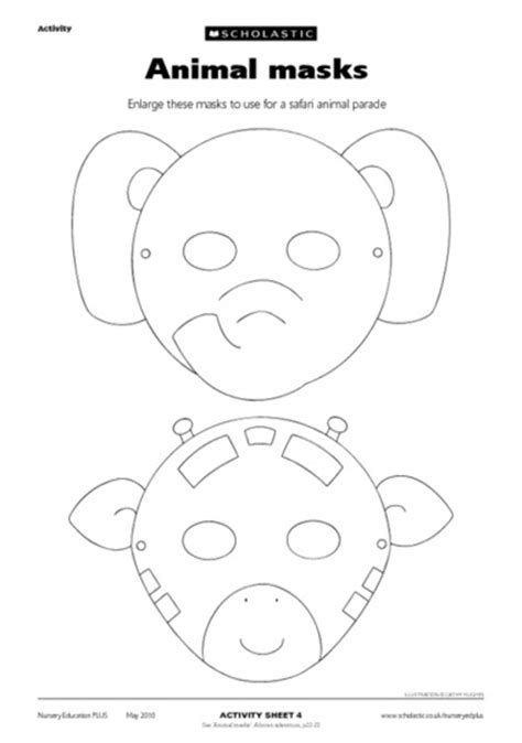 templates for animal masks 8 best images of zoo of animals printable masks