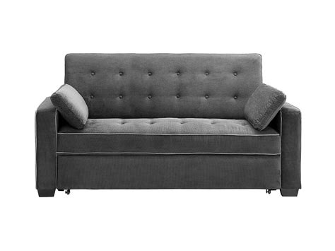 serta couch bed augustine convertible sofa bed moon grey by serta lifestyle