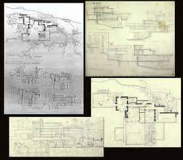 Frank Lloyd Wright Plans Original Drawings Frank Lloyd Wright Fallingwater