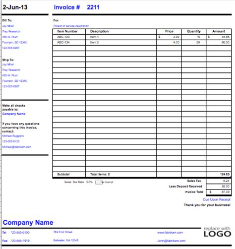 export invoice template export invoice sle