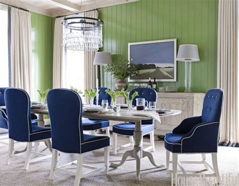 Royal Blue Dining Room by View From Heels Blue Green