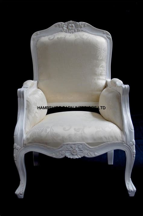 White Chairs For Bedroom by A Chateau Style Ornate Arm Chair Bedroom Antique