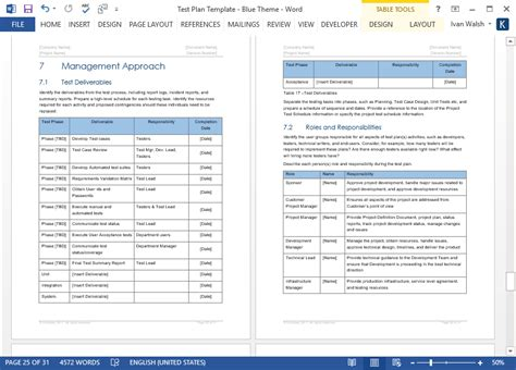 testplan template test plan document sle pictures to pin on