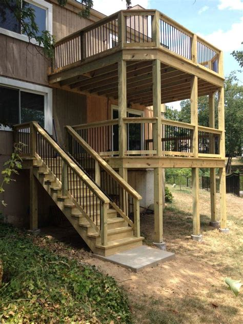 wood deck installation treated wood deck installation company
