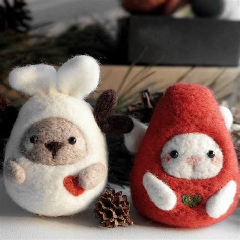 Handmade Felt Animals - oltre 1000 idee su wool needle felting su
