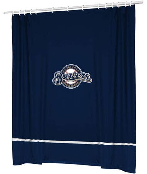 yankee shower curtain mlb milwaukee brewers baseball accent shower curtain