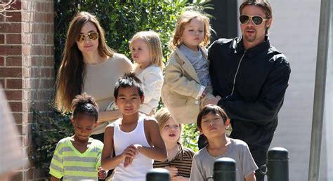 imagenes de la familia jolie pitt angelina jolie y brad pitt hacen terapia en familia