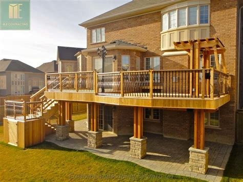 Home Designer Pro Balcony Cedar Deck With Walkout Basement And Pergola Traditional