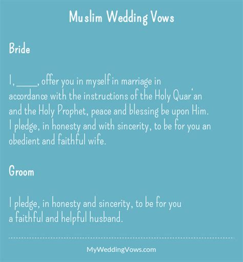 Wedding Blessing Muslim by Wedding Vows Marriage Unique Wedding Ideas