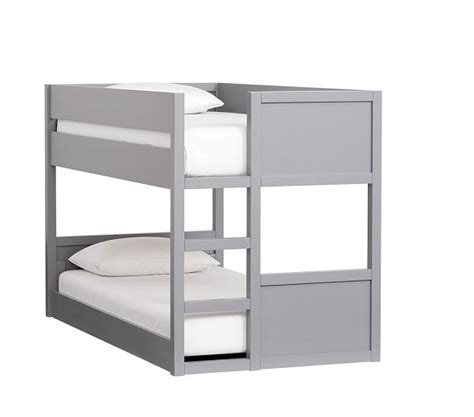 low bunk beds camden twin over twin low bunk bed pottery barn kids