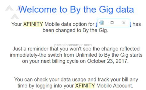 xfinity immobile switched  cheaper plan  charged  unlimited data customer service