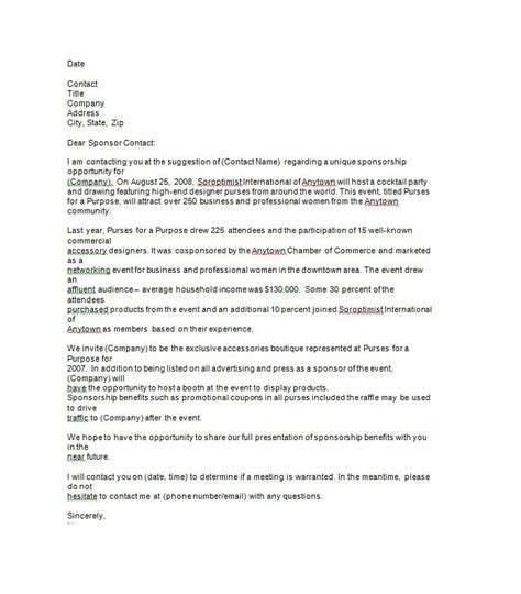 templates for sponsorship letters 41 free sponsorship letter sponsorship