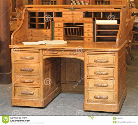 roll top desk makeover vintage roll top desk stock image image of drawers