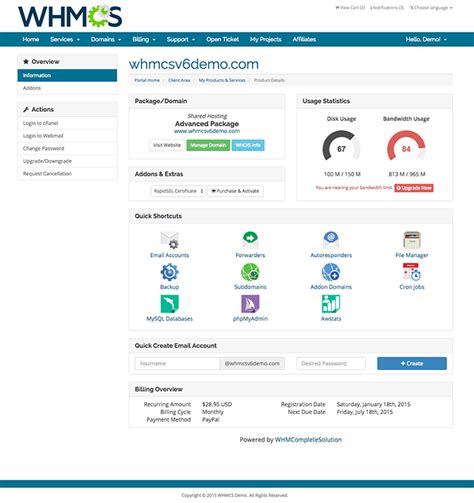 whmcs templates cpanel single sign on whmcs documentation