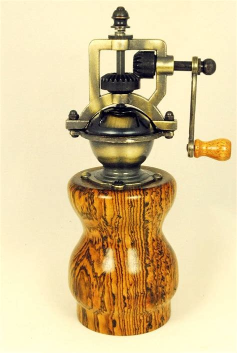 Handmade Pepper Mill - handmade vintage style steunk style pepper mill by