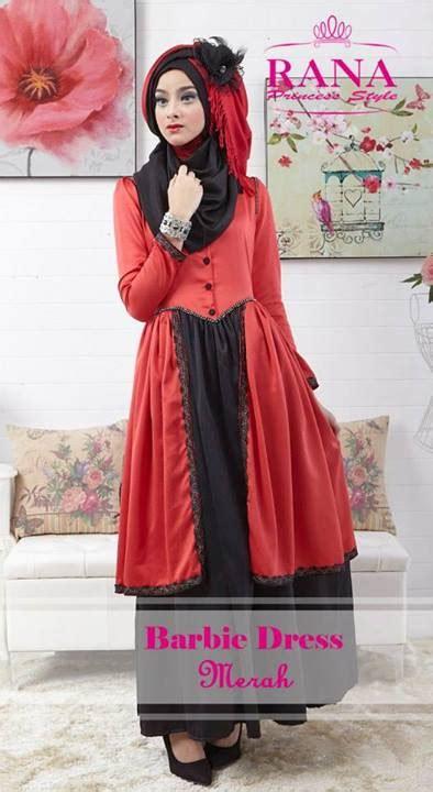 Gaun Casual Merah dress merah baju muslim gamis modern