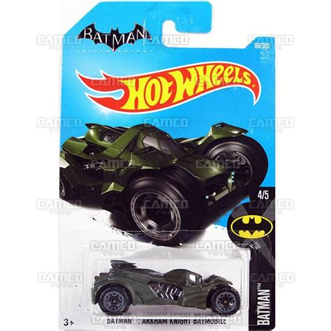 Wheels Batman The Bat 2016 2017 batman arkham batmobile 88 green 2017 wheels basic d assortment camco toys