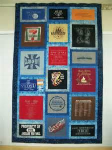 size custom made t shirt quilt