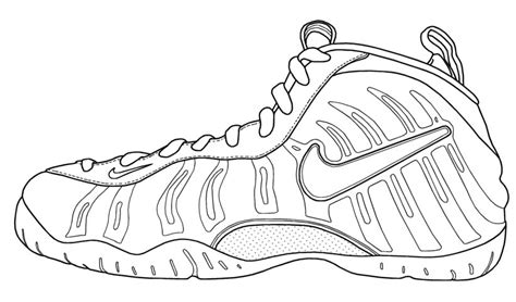 printable coloring pages nike shoes drawn shoe coloring page pencil and in color drawn shoe