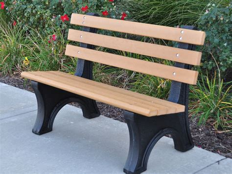 recycled plastic bench comfort park avenue bench by jayhawk plastics outdoor