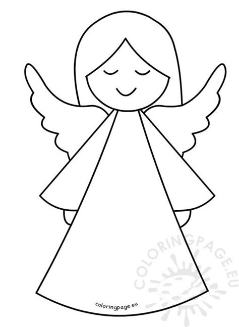 printable christmas tree angel coloring page