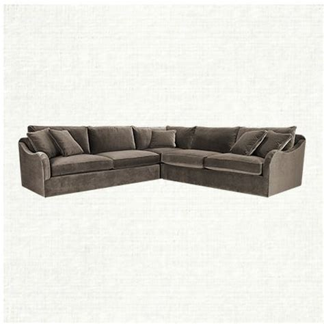 leeward 123 quot three upholstered sectional in vernon