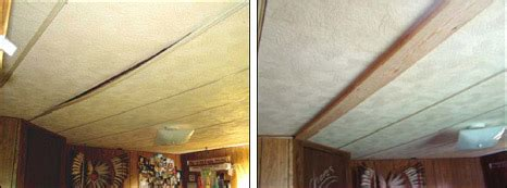 mobile home ceiling panels ceilings repairing or rebuilding mobile home repair