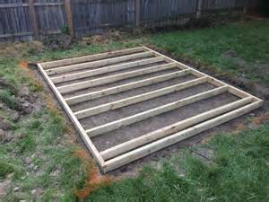 build a shed floor with pressure treated wood