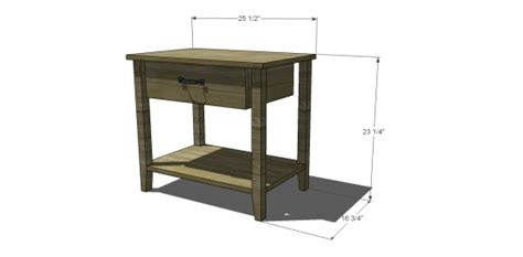 nightstand height free diy furniture plans to build a land of nod inspired